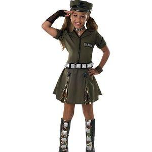 Rubie's Major Cutie Military Girl's Costume NWT